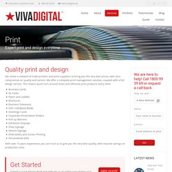 Quality Printing & Design Services in Caloundra - Viva Digital