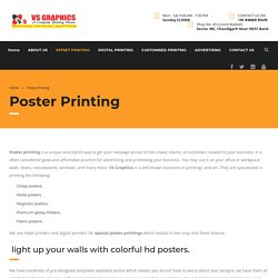 Poster Printing Services in Chandigarh