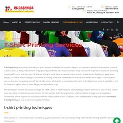 T-Shirt Printing Services in Chandigarh