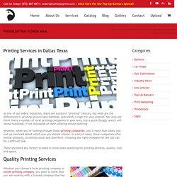 Printing Services in Dallas Texas - Online vs Local
