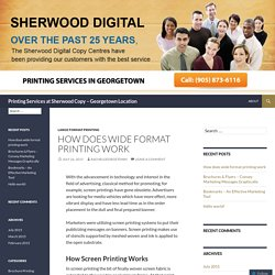 Printing Services at Sherwood Copy – Georgetown Location