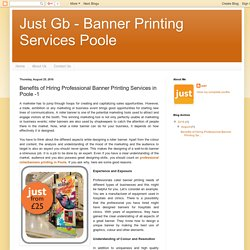 Just Gb - Banner Printing Services Poole: Benefits of Hiring Professional Banner Printing Services in Poole -1