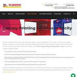 Canopy Printing Services in Tricity