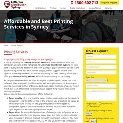 Cheap Printing Services in Sydney – Up to 20% off on Printing Services