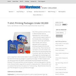 T-shirt Printing Packages Under $5,000 - SignWarehouse®, Inc.