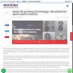 Metal 3D printing technology- Beneficial for spare parts industry