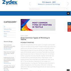 Most Common Types of Printing in Textile – Zydex Industries