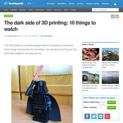 The dark side of 3D printing: 10 things to watch