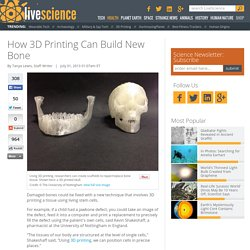 3D Printing Stem Cells to Build Bone