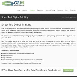 Sheet fed digital printing