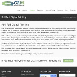 Roll fed digital printing