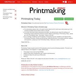 Printmaking Today.