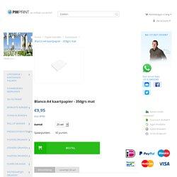 Dik mat A4 printpapier 350grs - Zelf kaartjes maken? Bestel goedkoop papier online