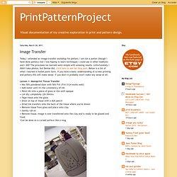 PrintPatternProject: Image Transfer