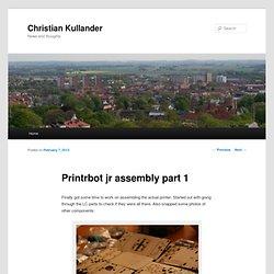 Printrbot jr assembly part 1