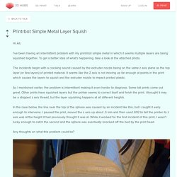 Printrbot Simple Metal Layer Squish