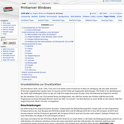 Printserver Windows - Fritz!Box