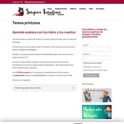 Teresa printzesa - Sorgina Txirulina cuentacuentos