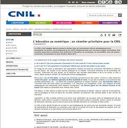 L'éducation au numérique: un chantier prioritaire pour la CNIL
