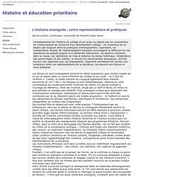 05_Histoire enseignée : entre représentations et pratiques