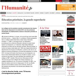 Éducation prioritaire, la grande supercherie
