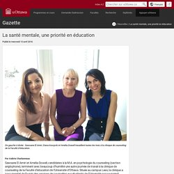 La sante mentale, une priorite en education