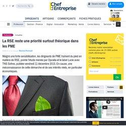 La RSE reste une priorité surtout théorique dans les PME