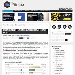 Les priorités du marketing sur les réseaux sociaux en 2014