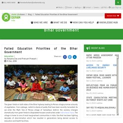 Failed Education Priorities of the Bihar Government