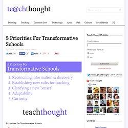 5 Priorities For Transformative Schools