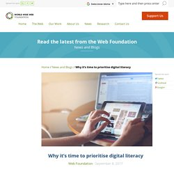 Why it's time to prioritise digital literacy – World Wide Web Foundation