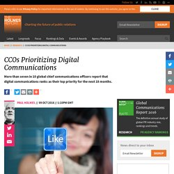 CCOs Prioritizing Digital Communications
