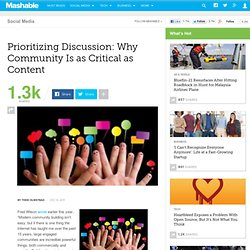 Prioritizing Discussion: Why Community Is as Critical as Content