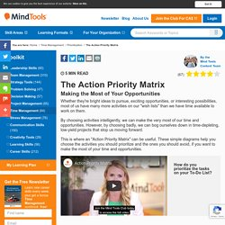 The Action Priority Matrix - Time Management Tools From MindTools.com