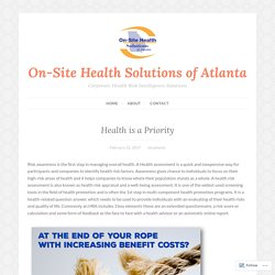 Health is a Priority – On-Site Health Solutions of Atlanta