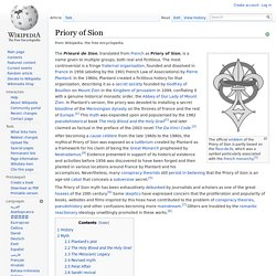 Priory of Sion