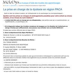 La prise en charge de la dyslexie en région PACA