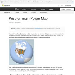 Prise en main Power Map - Excel