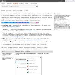 Prise en main de SharePoint2013 - SharePoint Server