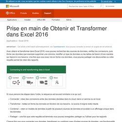 Excel - Obtenir et Transformer des données