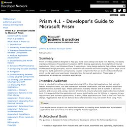 Prism 4.1 - Developer's Guide to Microsoft Prism