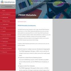PRISM Metadata - Idealliance