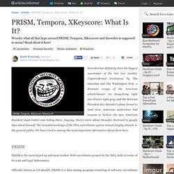 PRISM, Tempora, XKeyscore: What Is It?