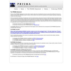 PRISMA Meta-analysis methods