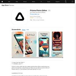 Prisma Photo Editor on the AppStore