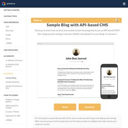 A blog with API-based CMS
