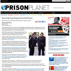 New York Cops Prepare For Civil Unrest