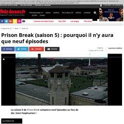 Prison Break : pourquoi il n'y aura que neuf épisodes?