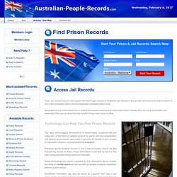 Prison Records & Jail Records