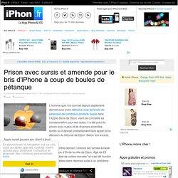 Prison avec sursis et amende pour le bris d'iPhone à coup de boules de pétanque - iPhone 7, 6s, iPad et Apple Watch : blog et actu par iPhon.fr